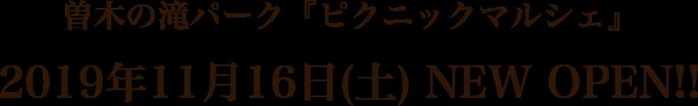 曽木の滝パーク『ピクニックマルシェ』2019年11月16日(土) NEW OPEN!!